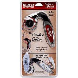My Comfort Cutter, Ergonomic 45mm Rotary Cutter, TrueCut line, The Grace Company