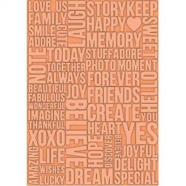 Beautiful Words, Teresa Collins, Embossing Folder, for Letter +A4 size ~ eBosser, Cut'n'Boss
