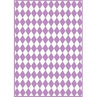 Checkered Argyle, Craftwell Embossing Folder, Universal Letter + A4 size ~ eBosser, Cut'n'Boss