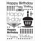 "CGull Happy Birthday Embossing Folder, 5"" x 7"", use w/ most embossing machines - Free Shipping!"