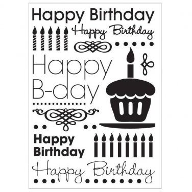 """CGull Happy Birthday Embossing Folder, 5"""" x 7"""", use w/ most embossing machines - Free Shipping!"""