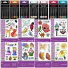 Spectrum Noir Sparkle Pens, Complete Set of 21 Glitter Markers + 8 Packs of Stamps - Free Shipping!