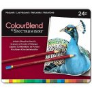 Spectrum Noir Colourblend Colored Pencils, Naturals set of 24 Artist Grade Blendable Vibrant Colors