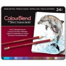 Spectrum Noir Colourblend Colored Pencils, Shade and Tone set of 24 Artist Grade Blendable Colors