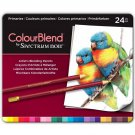 Spectrum Noir Colourblend Colored Pencils, Primaries set of 24 Artist Grade Blendable Vibrant Colors