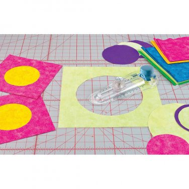 """TrueCut 360 Circle Cutter, Precision Cut Fabric Circles from 2"""" to 12"""", by the Grace Company"""