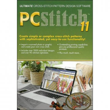 Cross Stitch Pattern Design Program PCStitch Ver. 11 ~ PC Software~Make your own Patterns~Use Photos