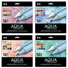All 4 Spectrum Noir Aqua Water Based, Dual-Tipped Artist 12 Marker Sets, Free Shipping