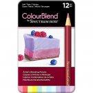 Spectrum Noir ColourBlend Colored Pencils-Soft Tints set of 12 Artist Grade Blendable Vibrant Colors