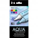 "Spectrum Noir Aqua Water Based Dual-Tipped Artist Markers, ""Brights"" 6 Marker Set, Watercoloring"
