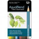 Spectrum Noir AquaBlend Watercolor Pencils, 'Earth Tones' set of 12 Premium Artist Quality Pencils
