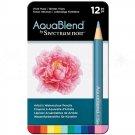 Spectrum Noir AquaBlend Watercolor Pencils, 'Vivid Hues' set of 12 Premium Artist Quality Pencils