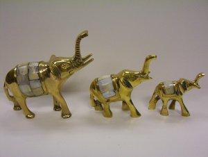 MOP Elephant Set of 3