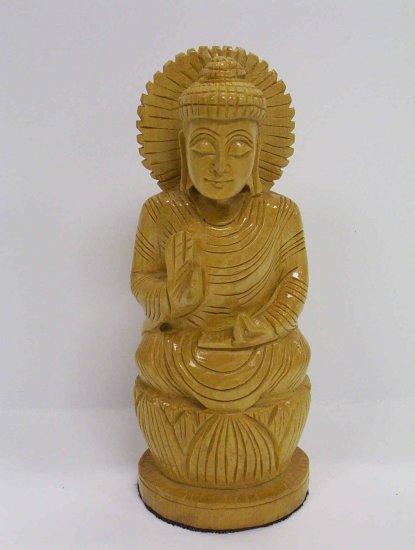 Wooden Meditating Buddha
