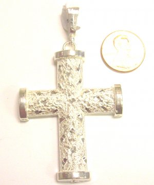 Sterling Silver Mens Cross