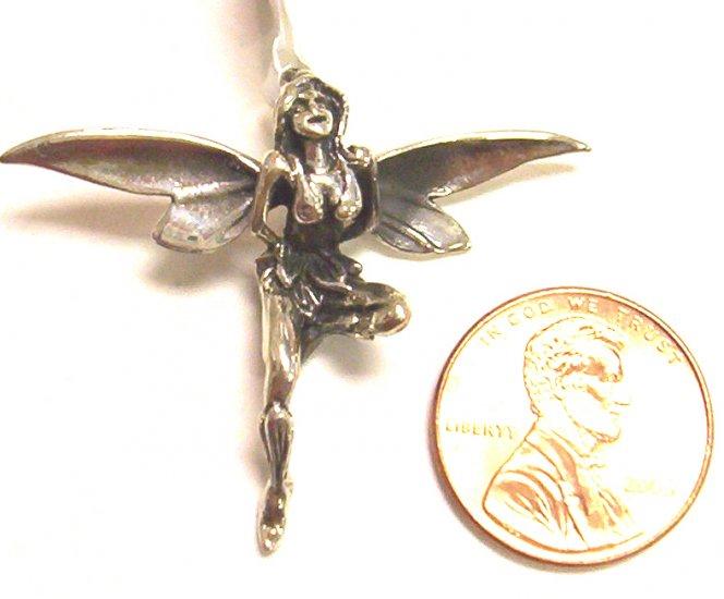 Sterling Silver Women Pendant Fairy