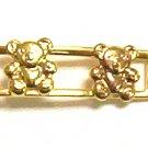 Gold Filled Women's Bracelet - Teddy Bear