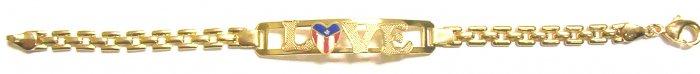 Gold Filled Women's Bracelet- Puerto Rico Love