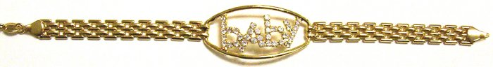 Gold Filled Women's Bracelet - Baby with Stones
