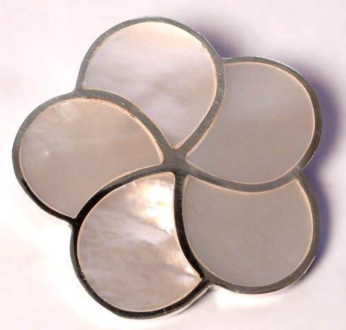 MOP Flower Sterling Silver Pendant