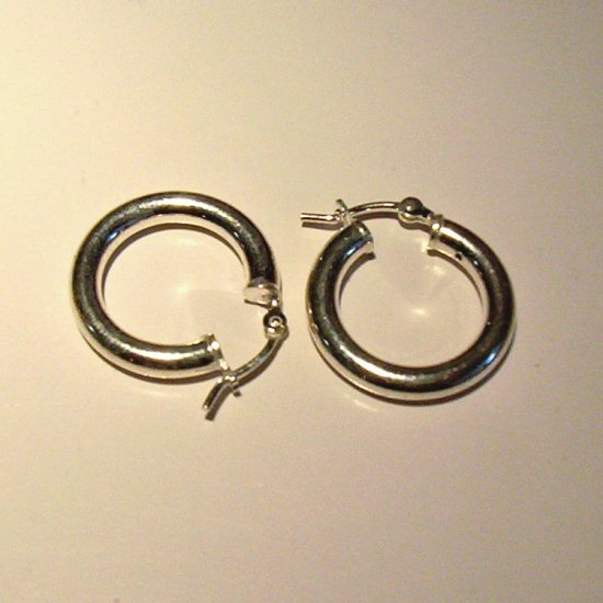 2 cm Sterling Silver Hoop Earrings- Wide gauge with better hook