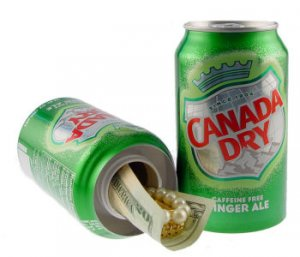 Safe Built into a Can of Ginger Ale