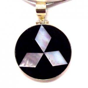 Round Fan Sterling Silver Pendant