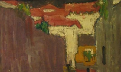 Barcelona By Carmel Artist Victor Di Gesu Original Oil Painting - Framed Artwork