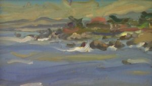 Lover's Point, Framed Oil Painting on Canvas By Carmel Artist Victor Digesu '85 - Framed Artwork