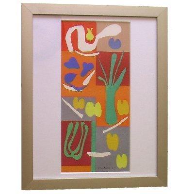 Vegetaux By Henri Matisse - Original Stone Lithograph Published in Verve - Framed Artwork