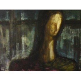 Sara, Oil Painting By California Artist Joe Ataide - Framed Artwork