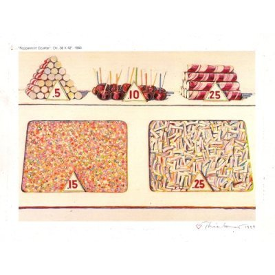 Peppermint Counter, Print Signed By Wayne Thiebaud 1994 - Framed Artwork
