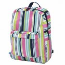 FREE SHIP Navy Pink Stripe Backpack Diaper Bag by Room It Up / RoomItUp FREE SHIP USA