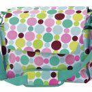 FRE SHIP Polka Dot Green Diaper Bag by Room It Up / RoomItUp FREE SHIP USA