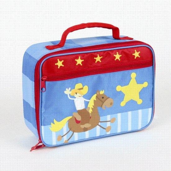 FREE SHIP Cowboy Buckaroo Lunch Box Bag Tote - Kids by Stephen Joseph FREE SHIPPING - USA