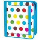 FREE SHIP Polka Dot Notebook 3 Ring Binder by Room It Up / RoomItUp FREE SHIP