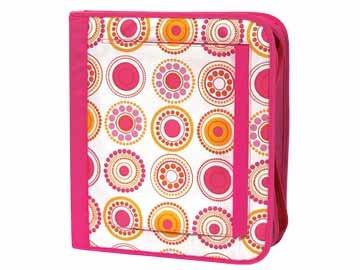 FREE SHIP Hot Pink Circle Polka Dot Notebook 3 Ring Binder by Room It Up / RoomItUp FREE SHIP USA