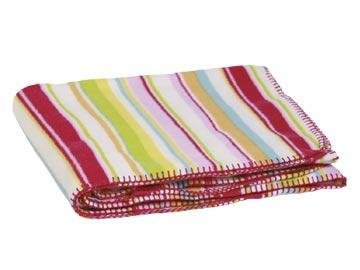 FREE SHIP Pink Preppy Stripe Fleece Blanket by RoomItUp / Room It Up FREE SHIP - USA