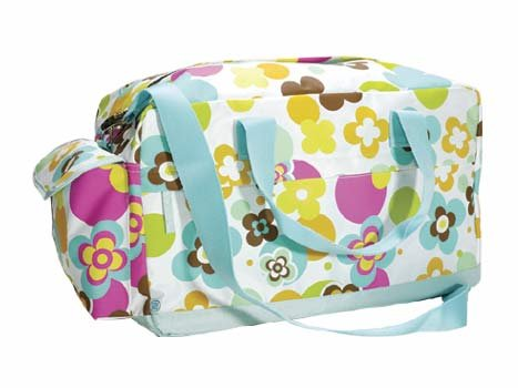 FREE SHIP Flower Polka Dot Duffle Bag Tote by RoomItUp / Room It Up FREE SHIP - USA