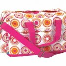 FREE SHIP Hot Pink Circle Polka Dot Duffle Bag Tote by RoomItUp / Room It Up FREE SHIP - USA
