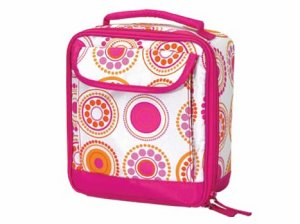 FREE SHIP Hot Pink Circle Dot Lunch Bag Room It Up / RoomItUp
