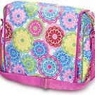 FREE SHIP Line Flower Messenger Sling Bag Tote Diaper by RoomItUp / Room It Up FREE SHIP - USA