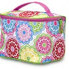 FREE SHIP Line Flower Makeup Train Case by RoomItUp / Room It Up FREE SHIP - USA
