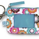 FREE SHIP Crazy Daisy ID Case Key Ring by RoomItUp / Room It Up FREE SHIP - USA
