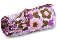 FREE SHIP Purple Flower Fleece Blanket by RoomItUp / Room It Up FREE SHIP - USA