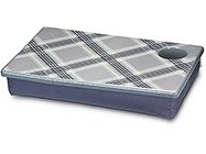 FREE SHIP Argyle Gray Lap Desk Tray Cup Holder by RoomItUp / Room It Up-FREE SHIP-USA
