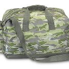 FREE SHIP Camo Green Duffle Bag Tote by RoomItUp / Room It Up FREE SHIP - USA