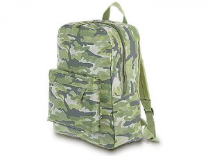 FREE SHIP Green Camo Backpack Diaper Bag by Room It Up / RoomItUp FREE SHIP USA
