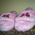 Pink Fluffy Butterfly House shoes sz med New w/o tag