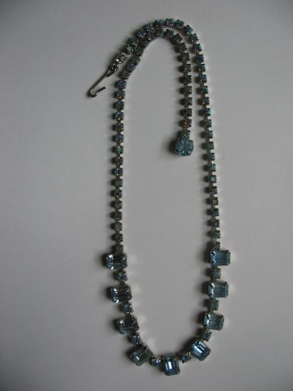 AQUAMARINE EMERALD NECKLACE
